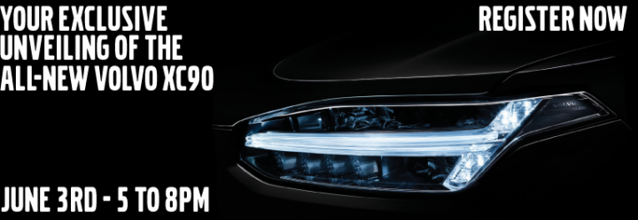 XC90 Thor's hammer headlight - Event card June 3rd 5 to 8PM