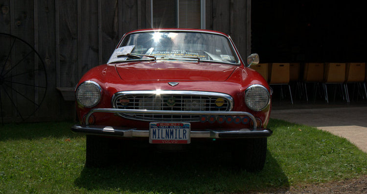 Family day in Ilderton - Irv Gordon's Red P1800